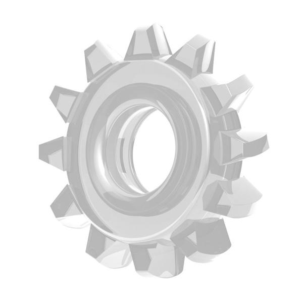 Прозрачное кольцо с лучиками POWER PLUS Cockring