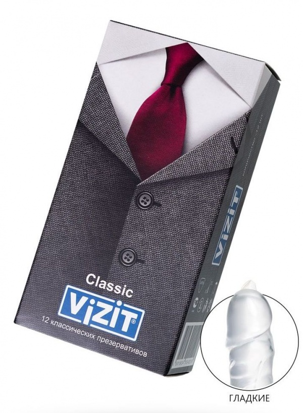 Классические презервативы VIZIT Classic - 12 шт.