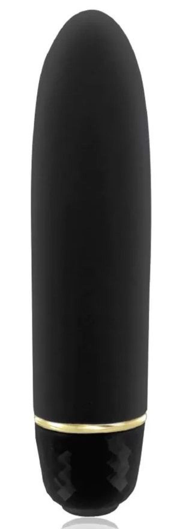 Черная вибропуля Classique Vibe - 12 см.
