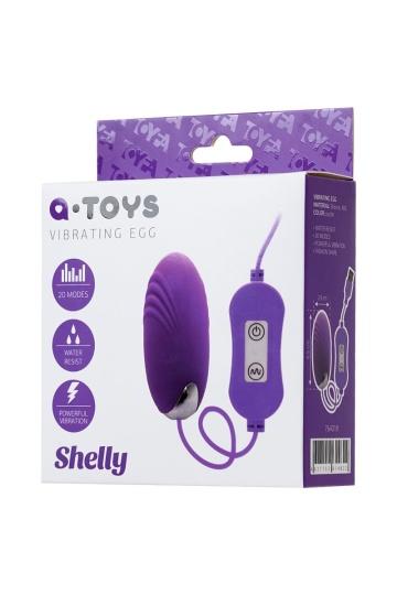 Фиолетовое виброяйцо с пультом управления A-Toys Cony, работающее от USB