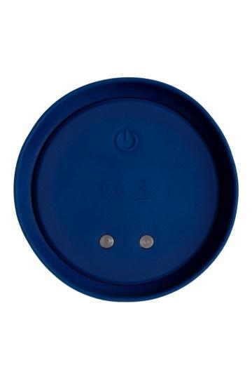 Синяя анальная вибровтулка OPlay Unico с пультом ДУ - 13,5 см.