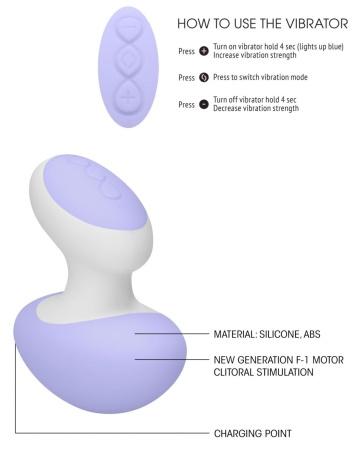 Фиолетовый клиторальный массажер Lovebug