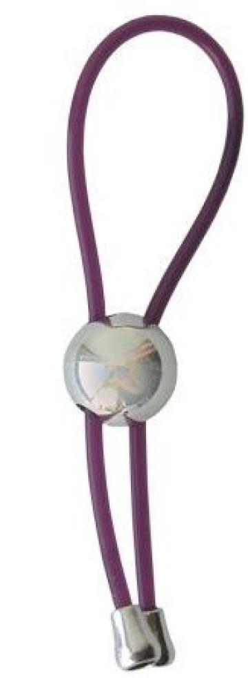 Фиолетовое эрекционное кольцо-лассо