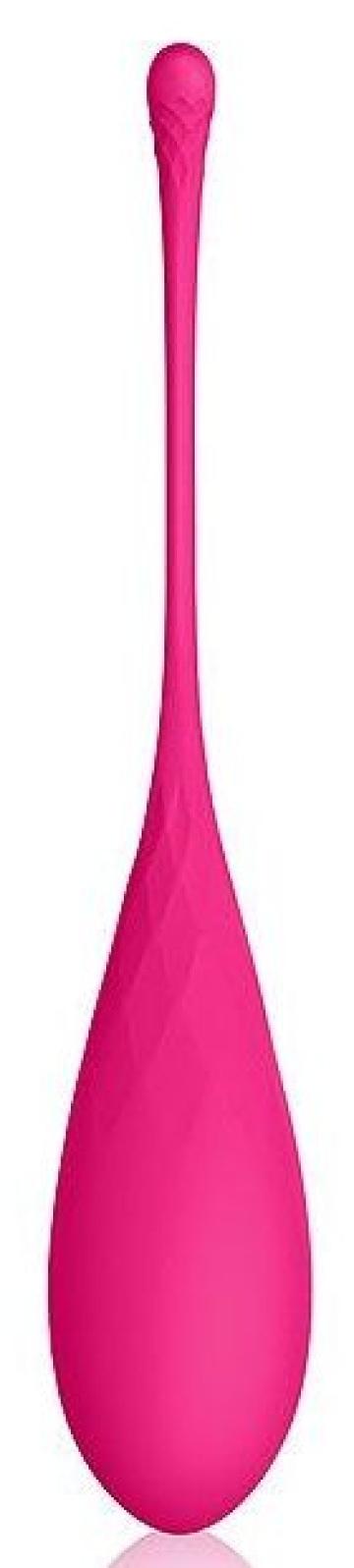 Розовый тяжелый вагинальный шарик со шнурком