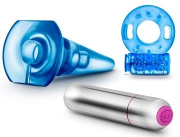 Голубой вибронабор Get Off из 3 предметов