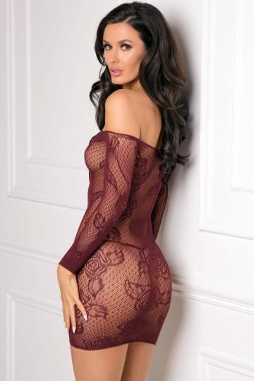 Эффектное коротенькое кружевное платье со шнуровкой