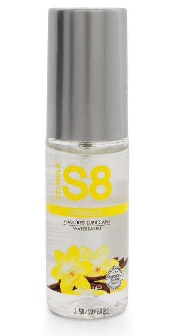 Лубрикант на водной основе S8 Flavored Lube со вкусом ванили - 50 мл.