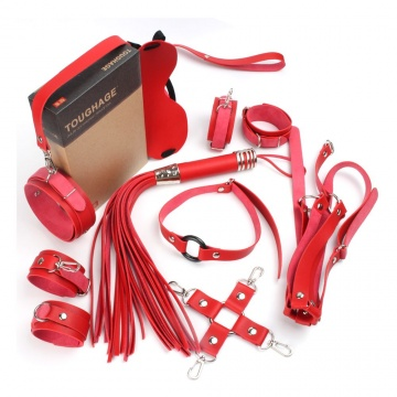 Красный набор БДСМ-девайсов Bandage Kits