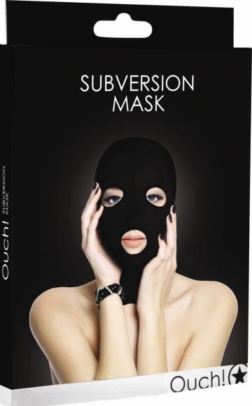 Черная маска Subversion Mask с прорезями для глаз и рта