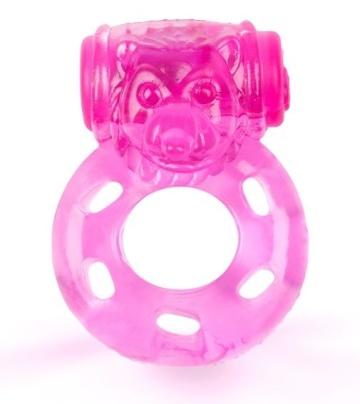 Розовое эрекционное виброкольцо