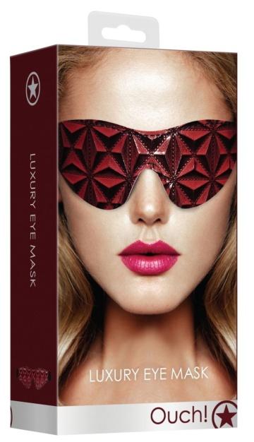 Красно-черная маска на глаза закрытого типа Luxury Eye Mask