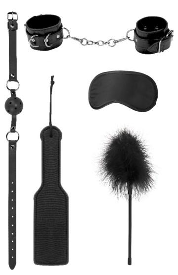 Черный игровой набор БДСМ Introductory Bondage Kit №4