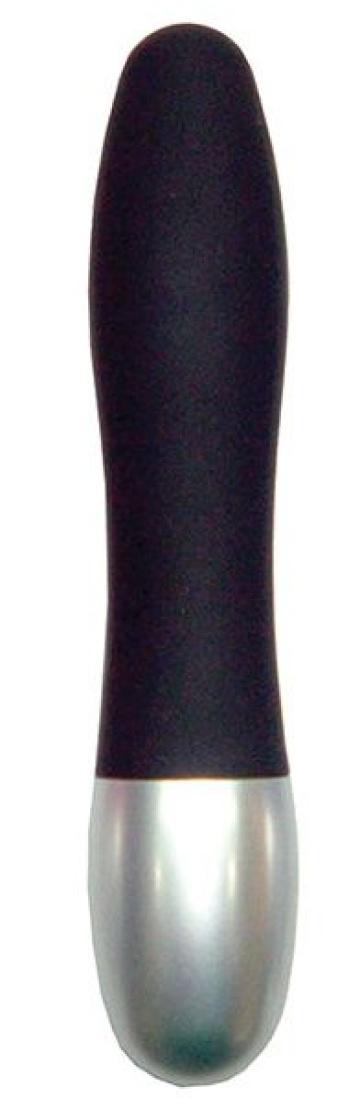 Черный миниатюрный вибратор DISCRETION - 8 см.