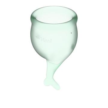Набор зеленых менструальных чаш Feel secure Menstrual Cup