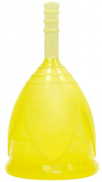 Желтая менструальная чаша размера L