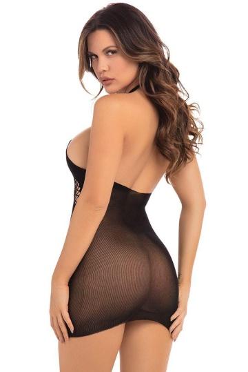 Эффектное облегающее коротенькое мини-платье