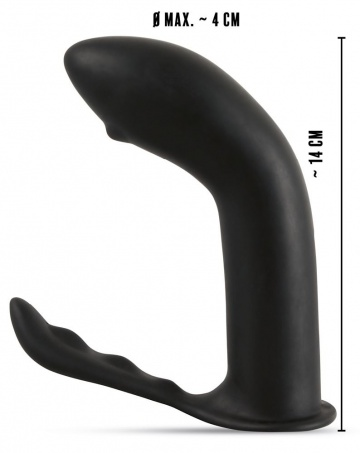 Черный стимулятор простаты Prostate Plug - 14 см.