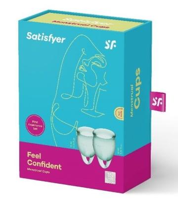Набор темно-зеленых менструальных чаш Feel confident Menstrual Cup