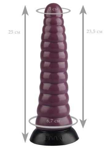 Коричневая коническая анальная втулка - 25 см.
