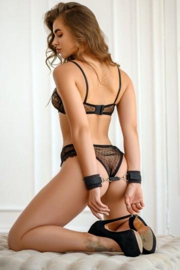 Черные наручники My rules на сцепке