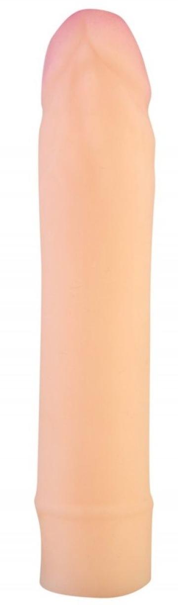 Телесный фаллоудлинитель-реалистик - 18,5 см.