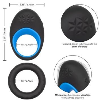 Набор из двух черных эрекционных колец Link Up Max