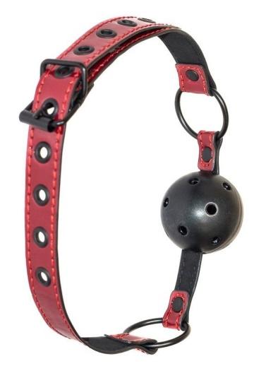 Черно-красный кляп-шарик Love Bite