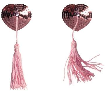 Розовые пэстисы-сердечки Gipsy с кисточками