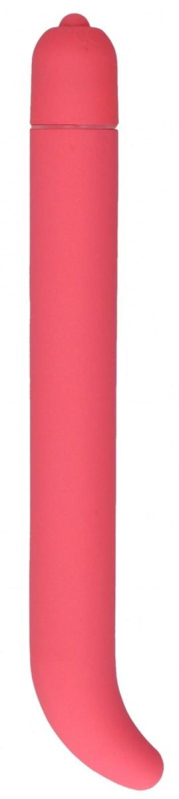 Розовый компактный вибростимулятор G-Spot Vibrator - 16 см.