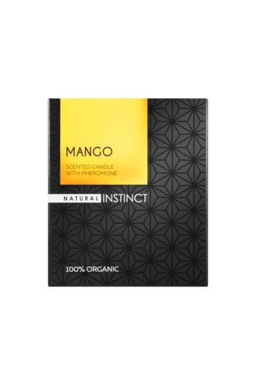 """Ароматическая свеча с феромонами Natural Instinct """"Манго"""" - 180 гр."""