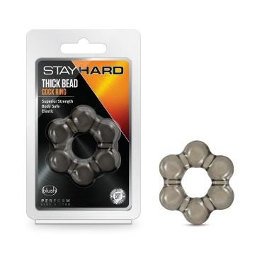 Дымчатое эрекционное кольцо Stay Hard Thick Bead Cock Ring