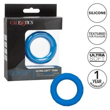 Синее эрекционное кольцо Link Up Ultra-Soft Max
