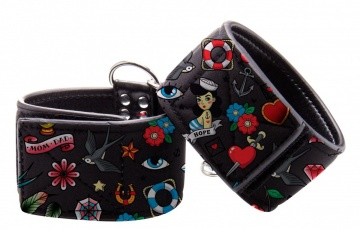 Наножники на цепочке Printed Ankle Cuffs Old School Tattoo Style