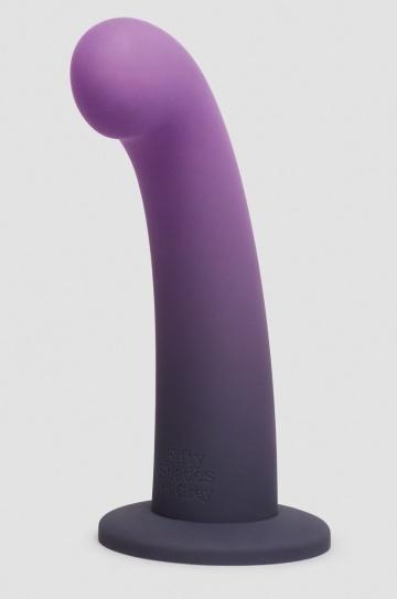 Фиолетовый, меняющий цвет фаллоимитатор Feel It Baby Colour-Changing Silicone G-Spot Dildo - 17,8 см.