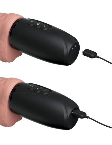 Хай-тек вибратор с функцией толкания 6.5 Thrusting Cock With Balls
