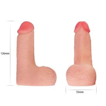 Накладной телесный фаллос - 12,6 см.