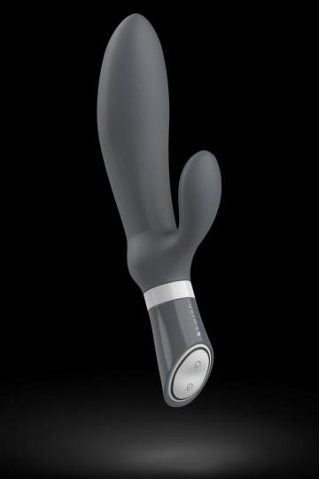 Серый вибромассажер простаты Bfilled Deluxe - 21 см.