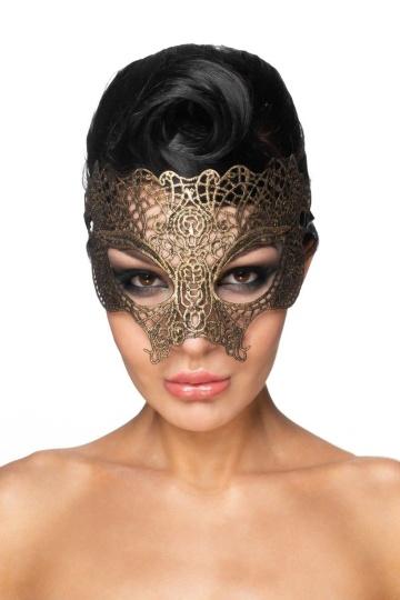"""Золотистая карнавальная маска """"Мира"""""""