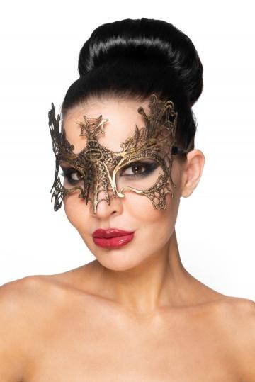 """Золотистая карнавальная маска """"Селена"""""""