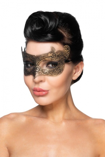 "Золотистая карнавальная маска ""Шедар"""