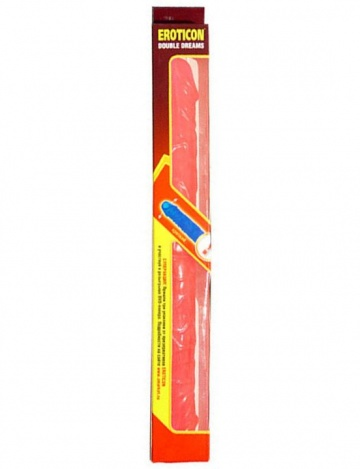 Двусторонний розовый фаллоимитатор DOUBLE DONG - 36 см.
