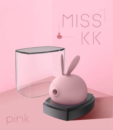 Розовый вакуумный стимулятор клитора Miss KK