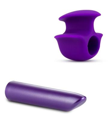 Фиолетовый вибромассажер B6 - 10,16 см.