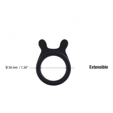 Черное эрекционное кольцо Be a Prince