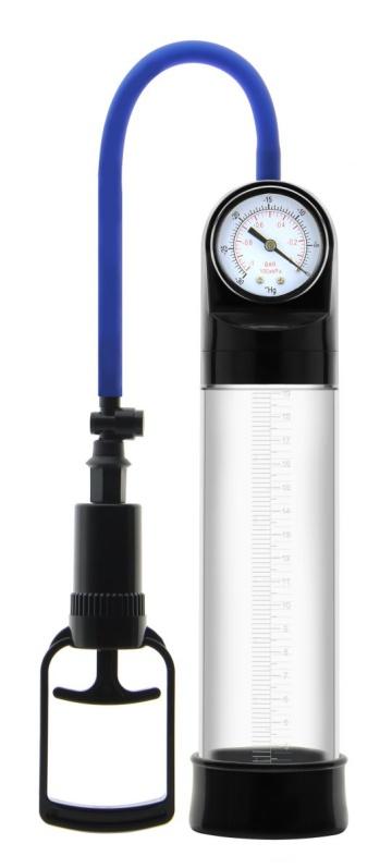 Прозрачная вакуумная помпа Erozon Penis Pump с манометром