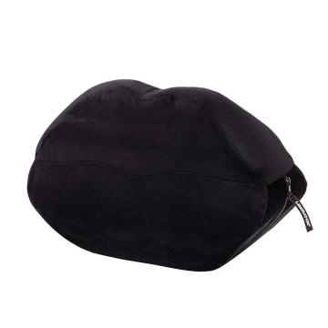 Черная микрофибровая подушка для любви Kiss Wedge
