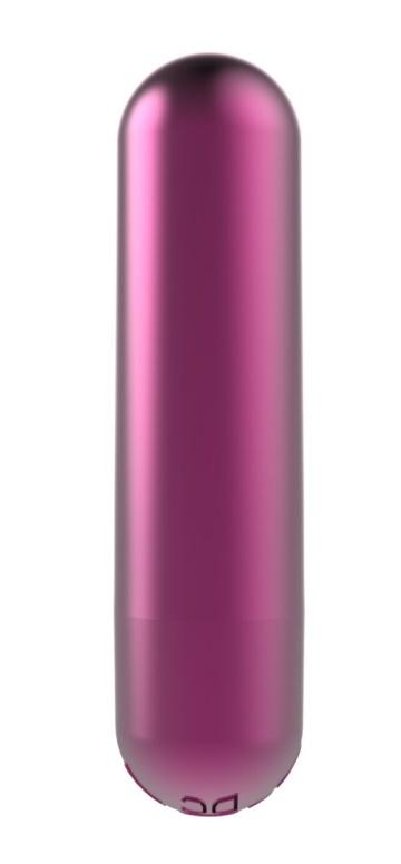 Малиновая перезаряжаемая вибропуля Clio - 7,6 см.