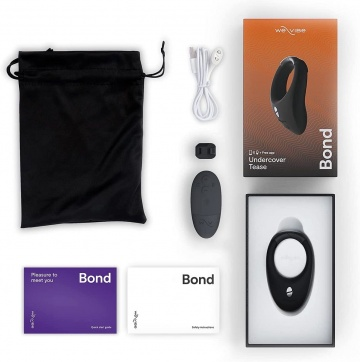 Черное эрекционное кольцо для ношения We-Vibe Bond