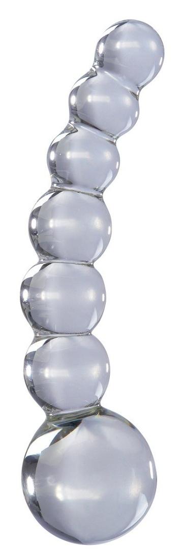 Прозрачный стеклянный стимулятор Icicles №66 - 12 см.