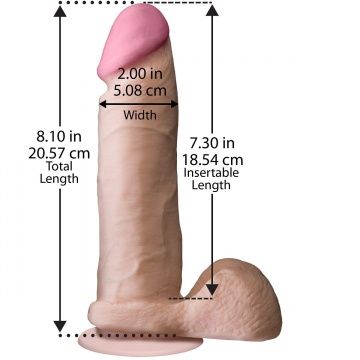 "Ультрареалистичный фаллоимитатор The Realistic Cock ULTRASKYN 8"" - 20,57 см."